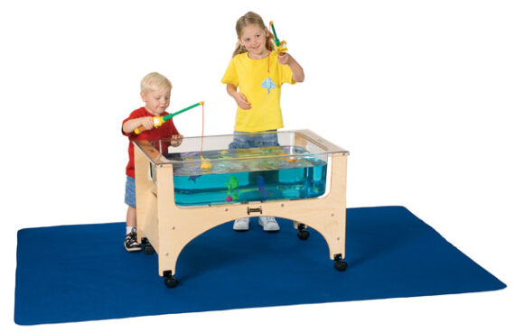 Sand and water table mat water