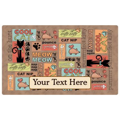 personalized pet mat