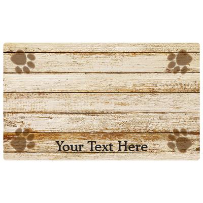 personalized pet bowl place mat